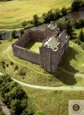 Doune Castle, Central & West. A late 14th century courtyard castle with a huge 100ft high gatehouse. #Scotland #History