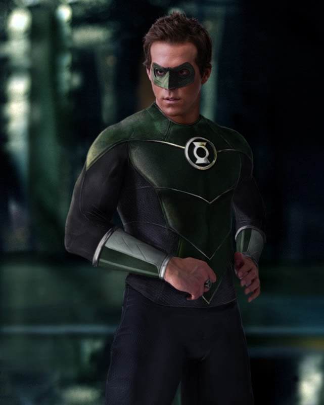 Green Lantern costume from the comics.. Looks better than the film costume..
