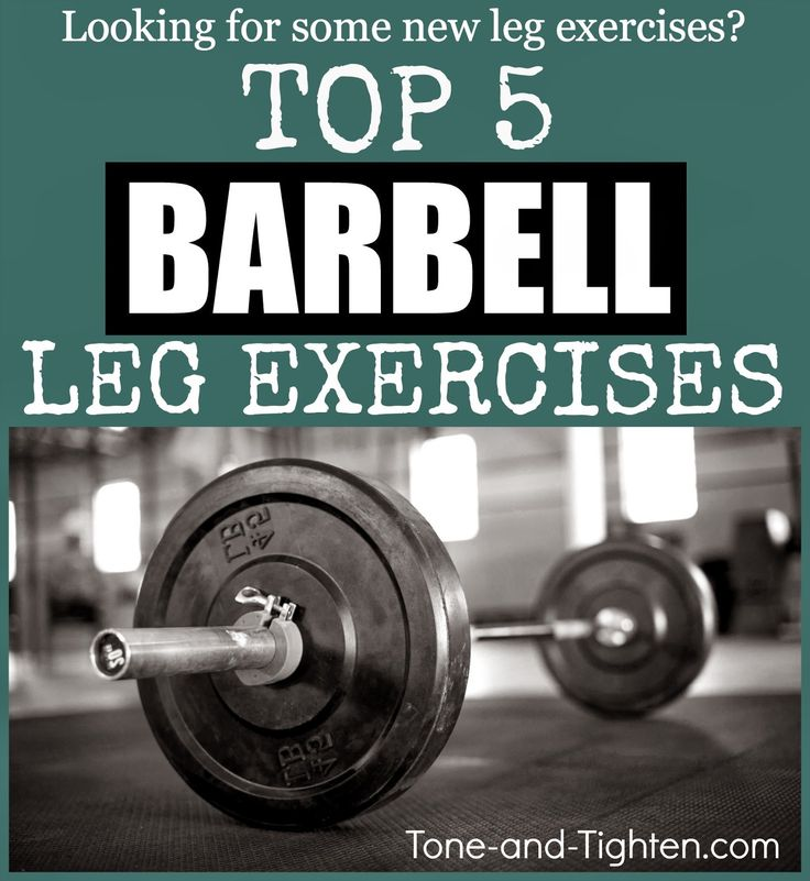To get toned legs you MUST be strength training. Stop wishing and start sculpting with these 5 barbell leg exercises everyone needs to be doing! #workout #exercise on Tone-and-Tighten.com