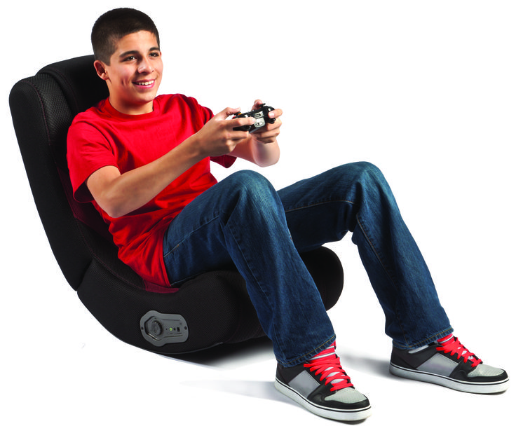 Red Curve Rocker Gaming Chair Available at Staples Canada