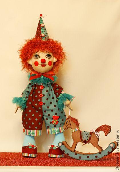 Коллекционные куклы ручной работы. Ярмарка Мастеров - ручная работа авторская кукла Клоун Антошка. Handmade.