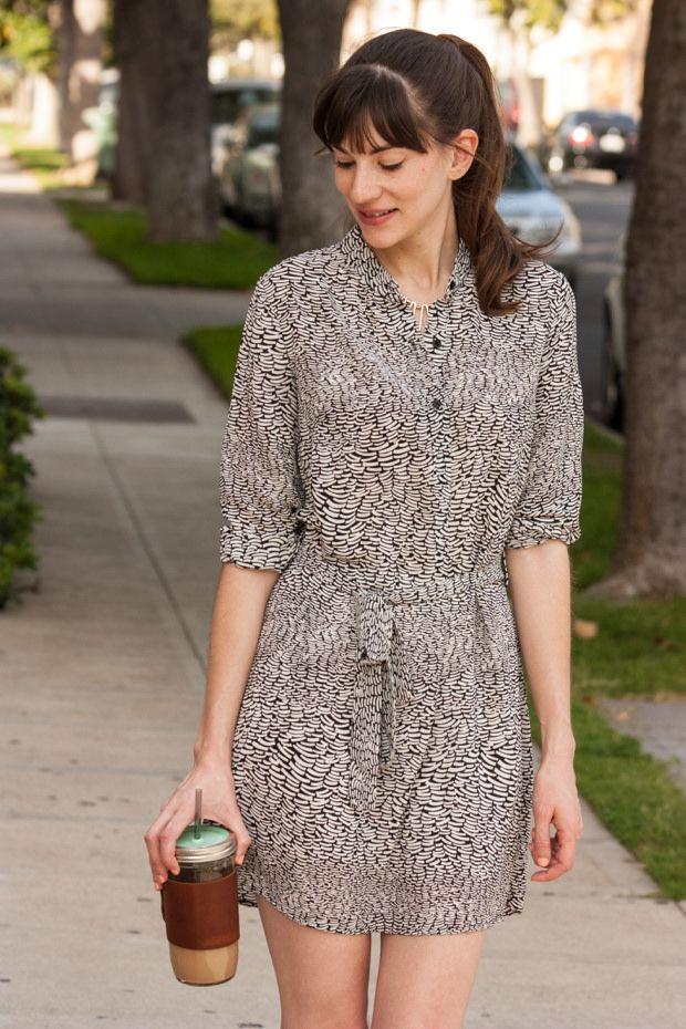 Black and white spring dress, The Mason Bar Company Tumbler. #ShopTheMint
