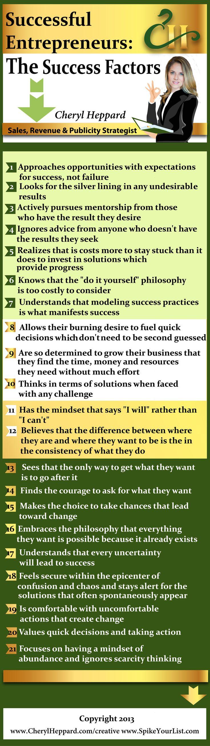 Mer enn 25 bra ideer om success factors p pinterest successful entrepreneurs the success factors infographic gamestrikefo Images