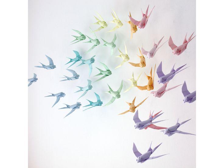 White origami swallow Sipho Magona