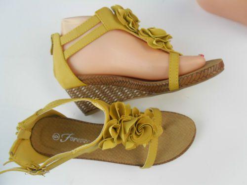 Fashion Ladies Wedge Sandal Sizes 6 10 Yellow   eBay