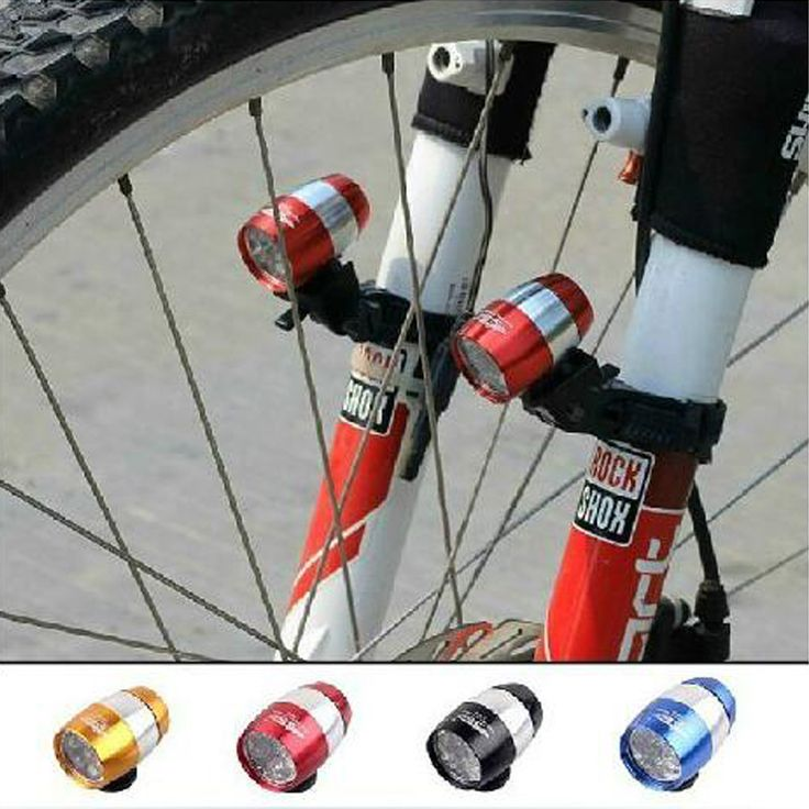 Bicycle Light 2Pcs/Lot Mini Led Bike Front Headlight Aluminium Alloy Cycling Rear Tail Lamp 6 Led 2 Modes Waterproof
