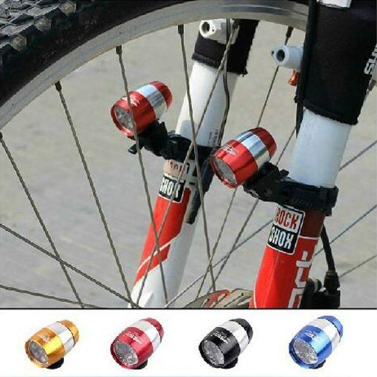 Bicycle Light 2Pcs/Lot Mini Led Bike Front Headlight Aluminium Alloy Cycling Rear Tail Lamp 6 Led 2 Modes Waterproof