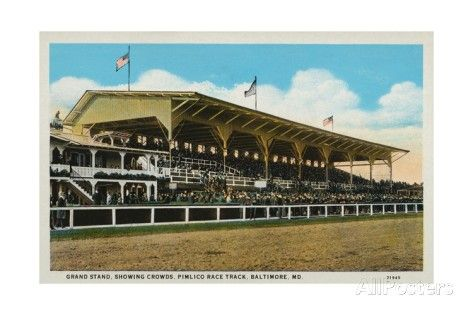 Postcard of Grand Stands at Pimlico Race Track