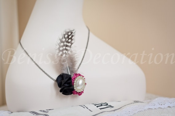 handmade necklace ..this is elegant~  https://www.etsy.com/listing/100737980/100-handmade-fabric-flower-of-unique?ref=v1_other_2
