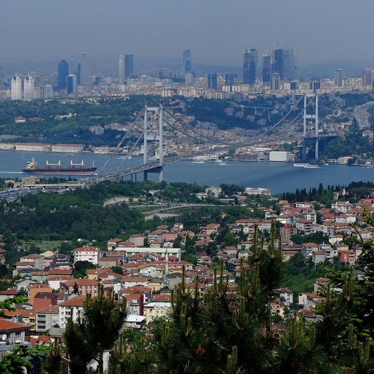 From highest point of istanbul
