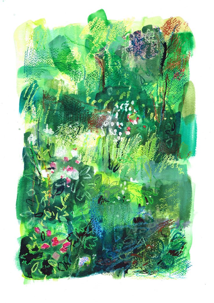'Late Summer' by William Watson-West  Watercolour, pastel, ink and gouache on paper  www.watsonwest.com