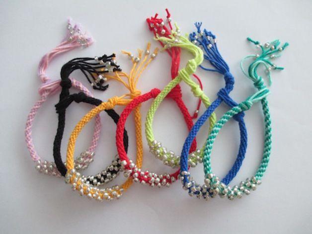 Gevlochten armbanden - Kumihimo armband gekleurd - Een uniek product van heyleuk op DaWanda