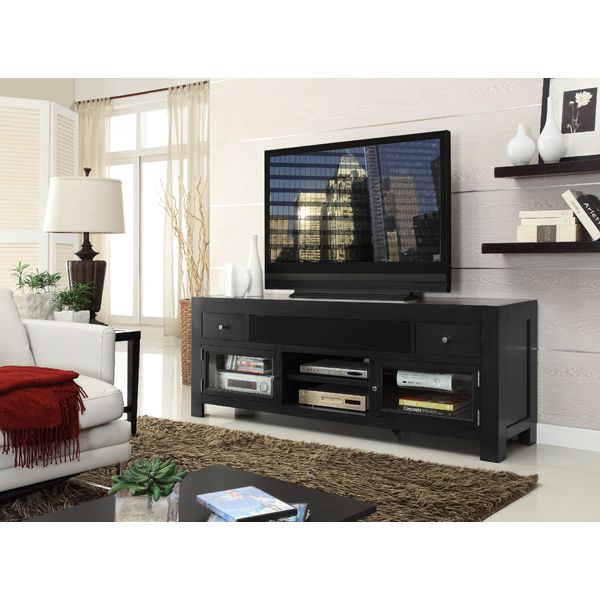 Floor Vase Next To Tv And Floating Shelves On Other Side Tv And