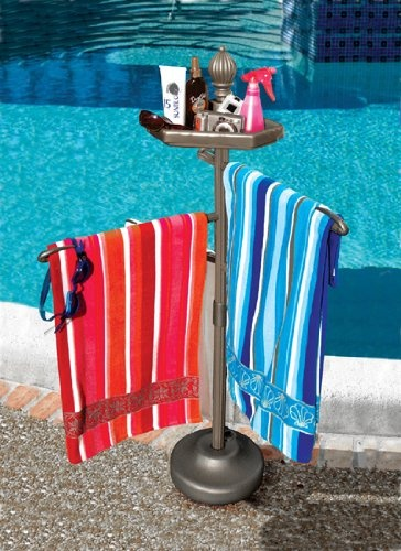 Pool towels Towel rack pool PVC towel drying rack, or clothes rack Pool towel holders Beach Towel Racks BEACH TOWEL STORAGE Outdoor Towel Racks Shoe rack design Towel rail Forward Pool Towel Rack - Would also make a good laundry drying rack.