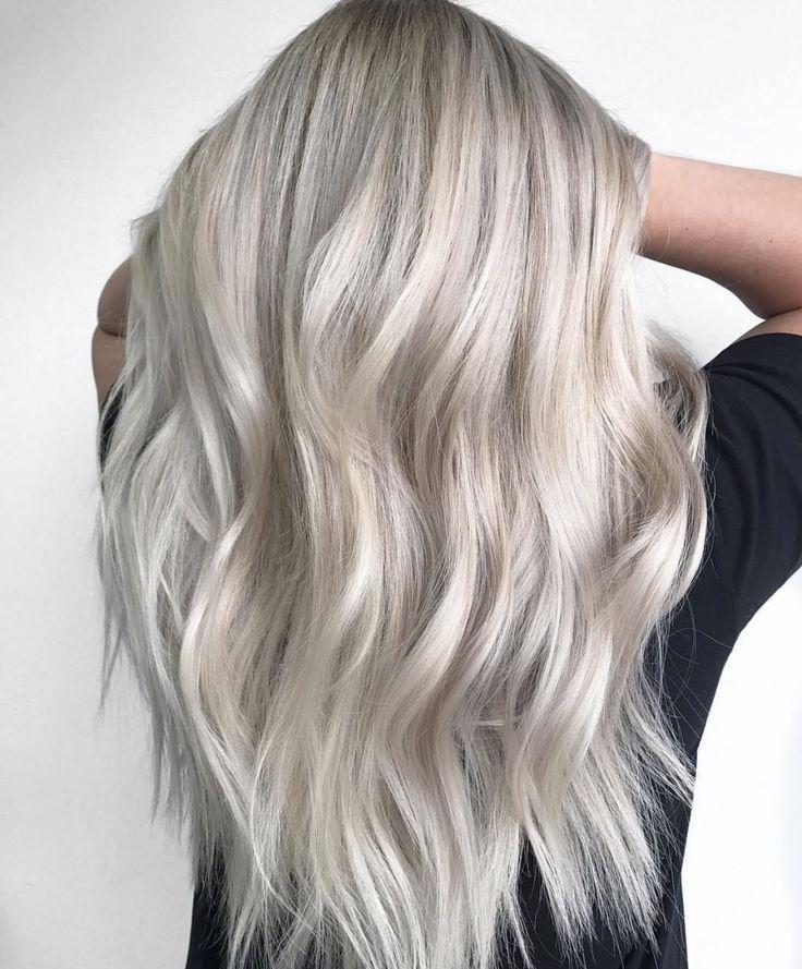 Platinum Balayage ___________________________________ #ombre#ombrehair#colorcorrection#pbalayage#silverhair#silver#hair#hairstylist#Balayage#vividhair#colormelt#fashioninspo#hairinspo