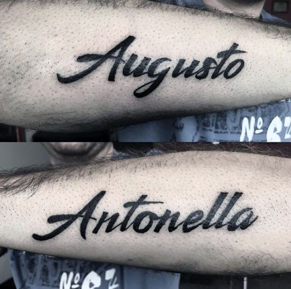 50 Kinder Name Tattoos Fur Manner Cool Kinder Design Ideen Mann Stil Tattoo Names Tattoos For Men Kid Name Tattoo Tattoos For Guys