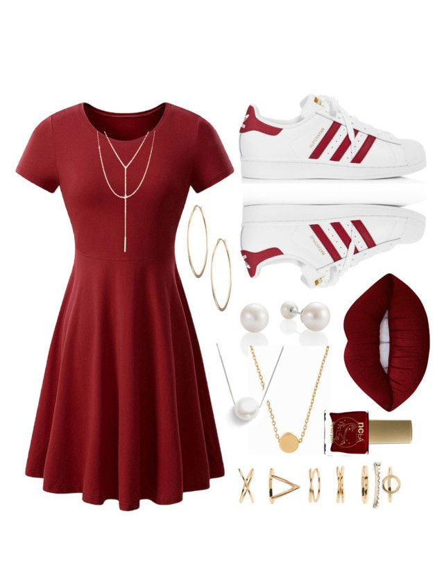 """""""💃🏼💃🏼💃🏼"""" by calliebethd on Polyvore featuring WithChic, Minnie Grace, Chan Luu, adidas, Lime Crime, Lydell NYC, South Moon Under, Forever 21 and ncLA"""