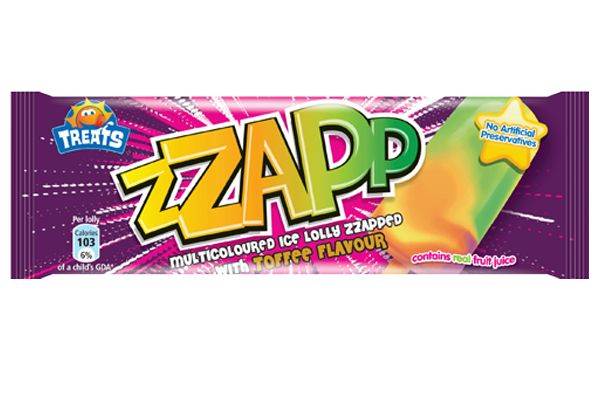 zaps ice lolly