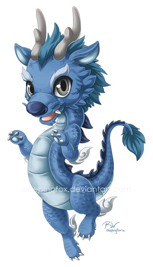 Water Dragon commission by Sleepingfox.deviantart.com on @deviantART