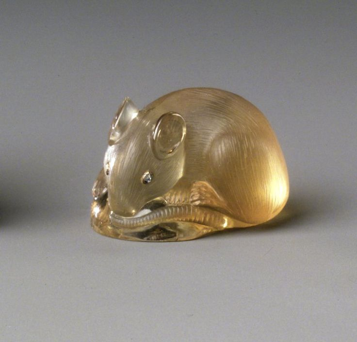 Workshop of Peter Carl Faberge (1846-1920). Mouse, 1886-1917. Citrine, diamonds. Brooklyn Museum