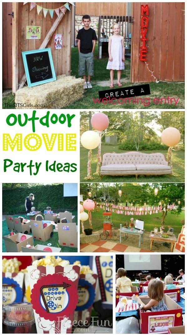 Outdoor Movie Party Ideas http://www.momsandmunchkins.ca/2014/05/21/movie-party-ideas/ #MovieNight #Birthday