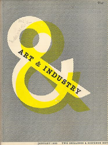 Art & Industry magazine cover designed by Zero (Hans Schleger) 1950 - The Accidental Optimist