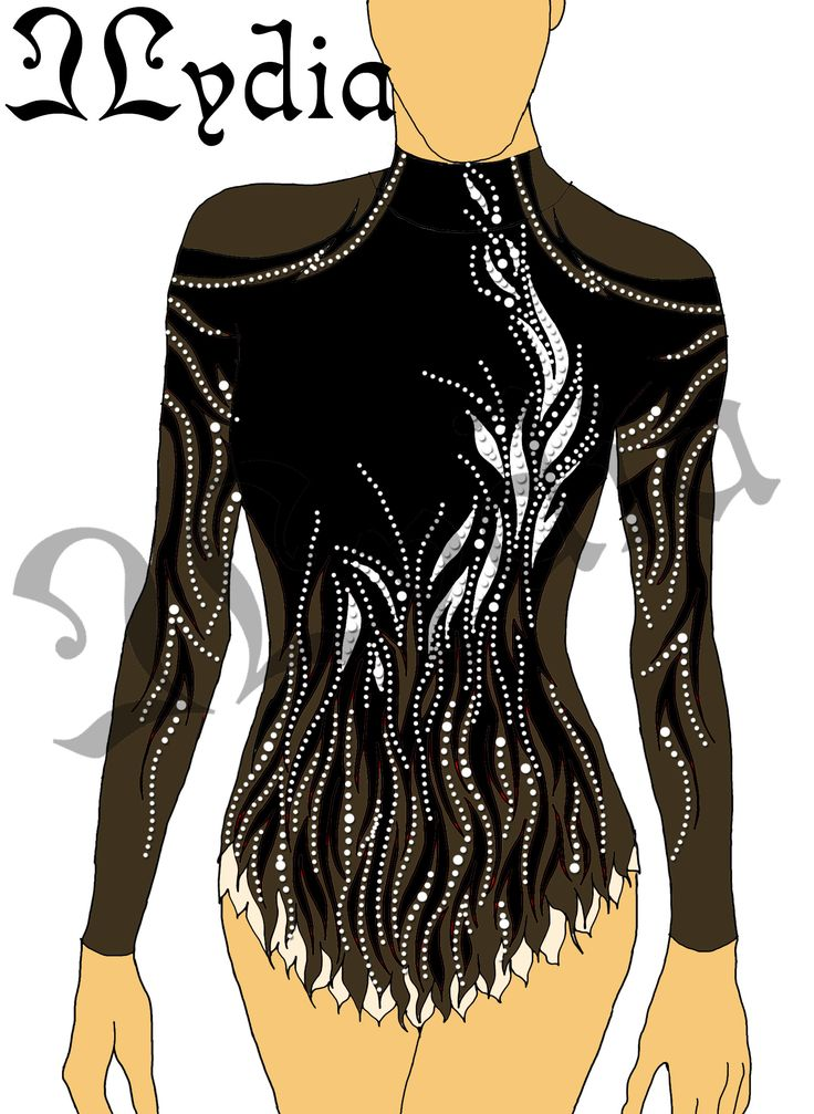 Competition Rhythmic gymnastic leotards Design - Black Swan