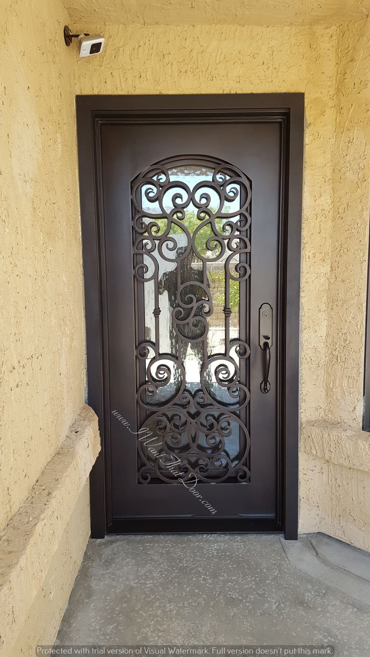 Altamura square top single door. Installed by UID. Call now for free estimate & 153 best Wrought Iron Doors images on Pinterest | Wrought iron ... pezcame.com