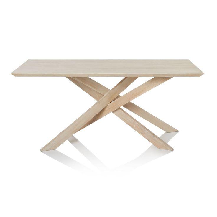 Esstisch, schräg gestellte Tischbeine, Mangoholz