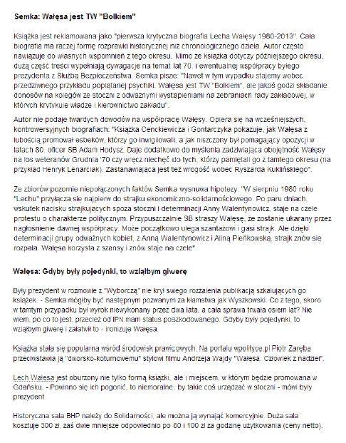 #SalaBHP #gazeta.pl #Wałęsa str.2 29.01.2014