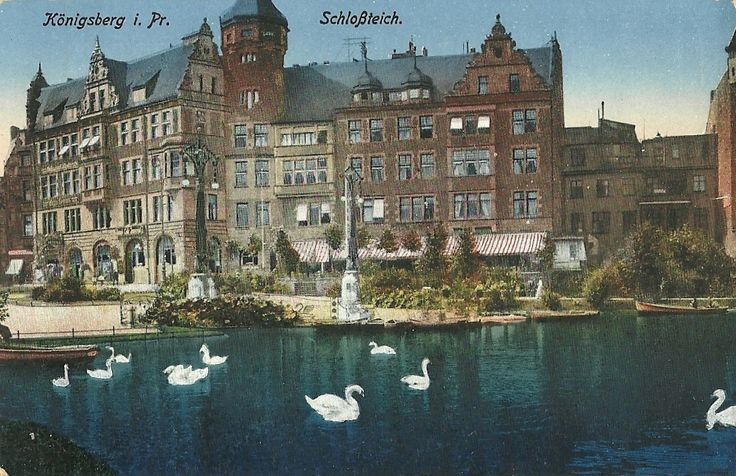 "allofoldpostcards: "" Königsberg in Preußen (Prussia) - (now Kaliningrad (Калинингра́д), Kaliningrad Oblast) Schloßteich http://en.wikipedia.org/wiki/K%C3%B6nigsberg """