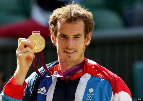 Andy Murray takes gold in the tennis at Wimbledon