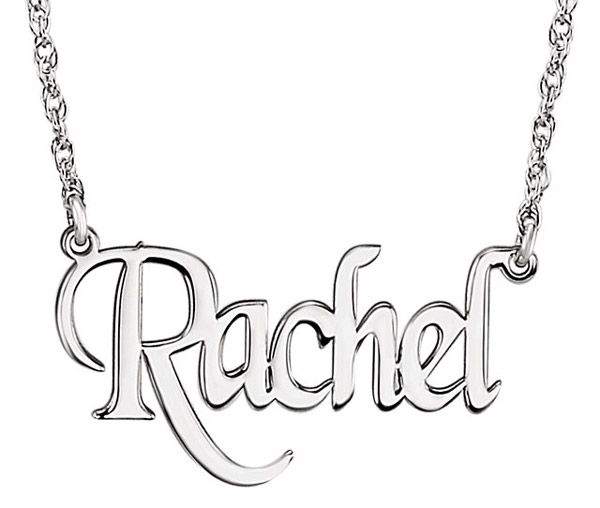 Custom Name Necklace with Unique Font in Sterling Silver | applesofgold.com