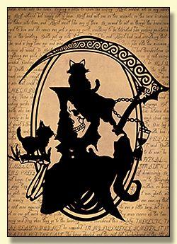 Death Papercut Greetings Card