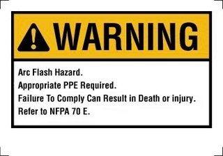 "IDEAL - 44-895 Danger Label NEC Arc Flash 4""""x6"""""