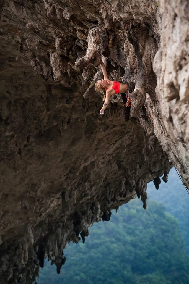 Emily Anne Harrington climbing in China w the North Face Team!. Photo by: Rocker Wang