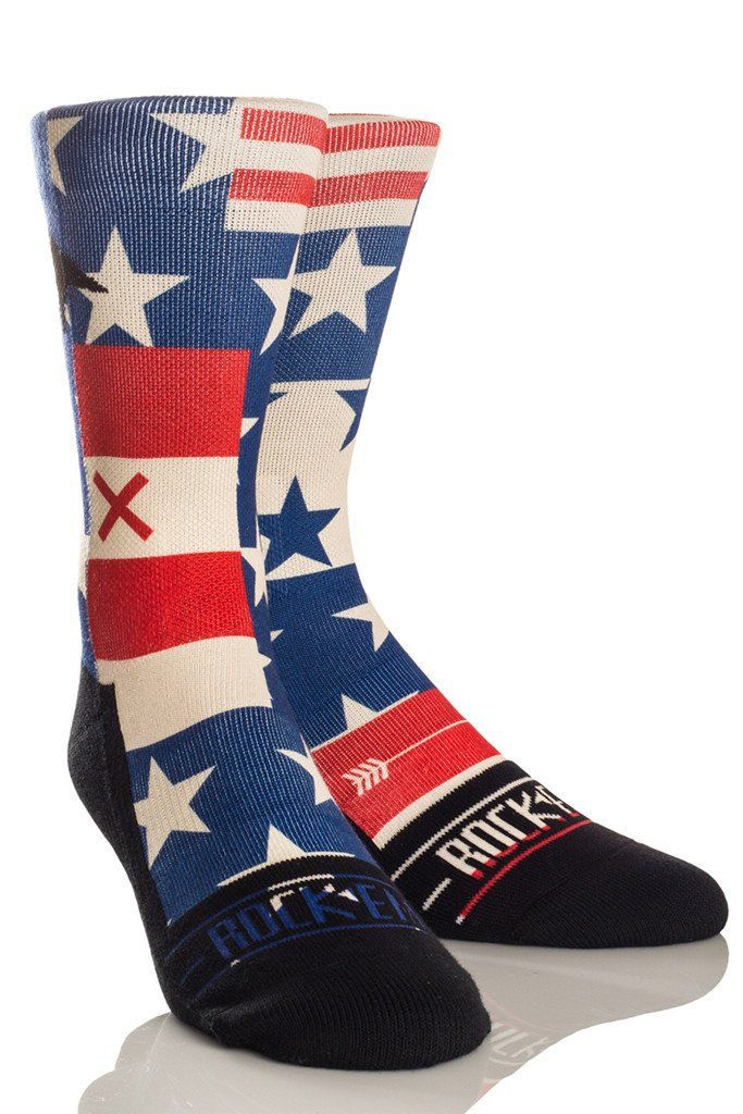 Rock 'Em Elite AMERICANA - USA Stars and Stripes Flag Crew Socks