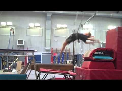 Gymnastics Learning the Yurchenko - YouTube