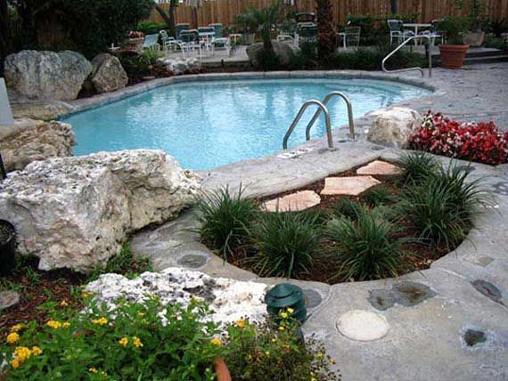 landscape around zone 9 pool pool landscaping ideas for wonderful outdoor decorating