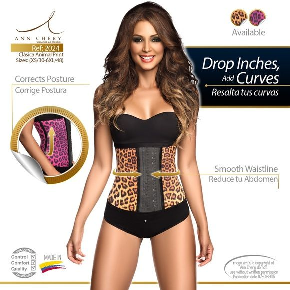 "Ann Chery 2024 Animal Print Waist Trainer Size 32 Get that extra boost of confidence with Fajas Ann Chery. The Girdle 2024 ""Animal Print"" smoothes your curves and flattens your abs instantly. This Colombian Faja comes with an inner cotton lining that protects skin from latex. You can use this Waist Cincher everyday. Ann Chery Intimates & Sleepwear Shapewear"