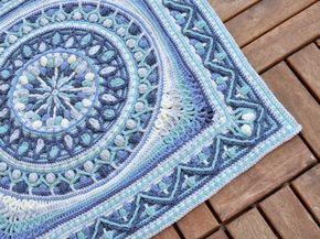 Crochet Mandala framed in square