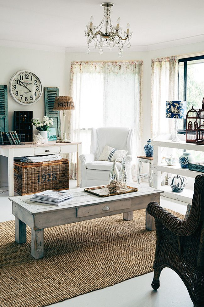 Take a look through this rustic Queensland home filled with lovingly upcycled finds.   Living room The...