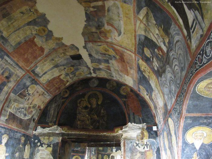 Centuries old frescoes of Boyana Church, one of Bulgaria's UNESCO World Heritage Sites.