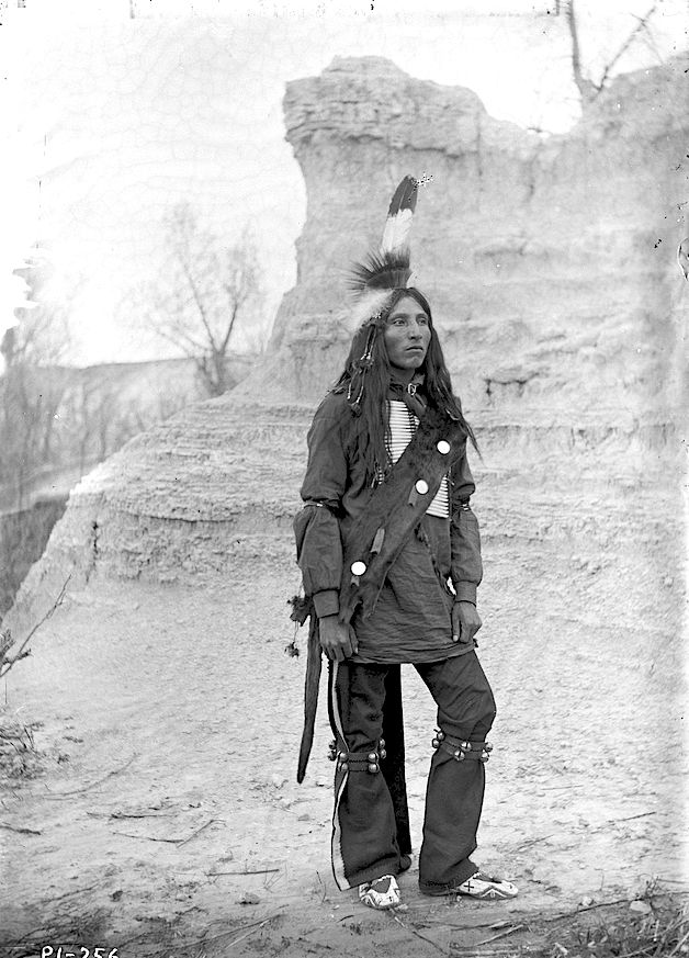 A Lakota man. ca. 1895-1899. South Dakota. .