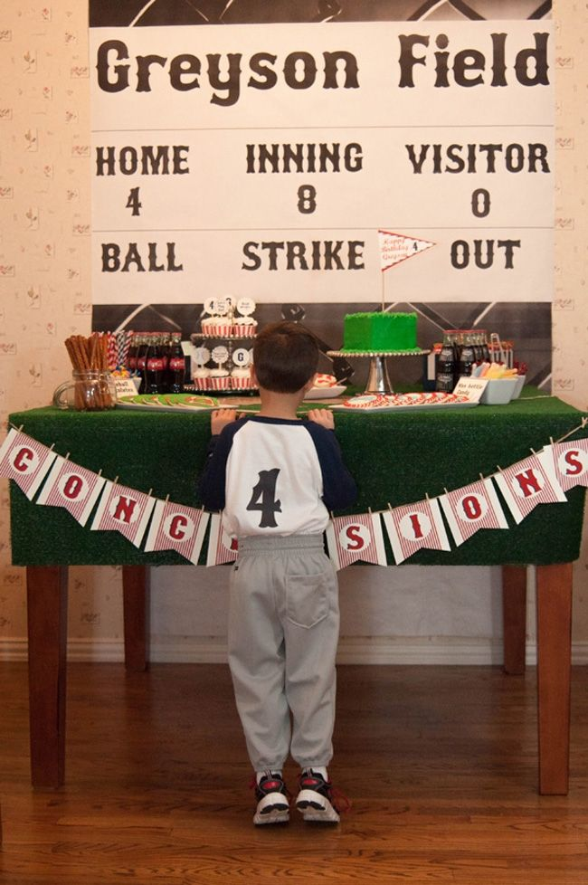 vintage baseball birthday party and dessert table - www.spaceshipsandlaserbeams.com