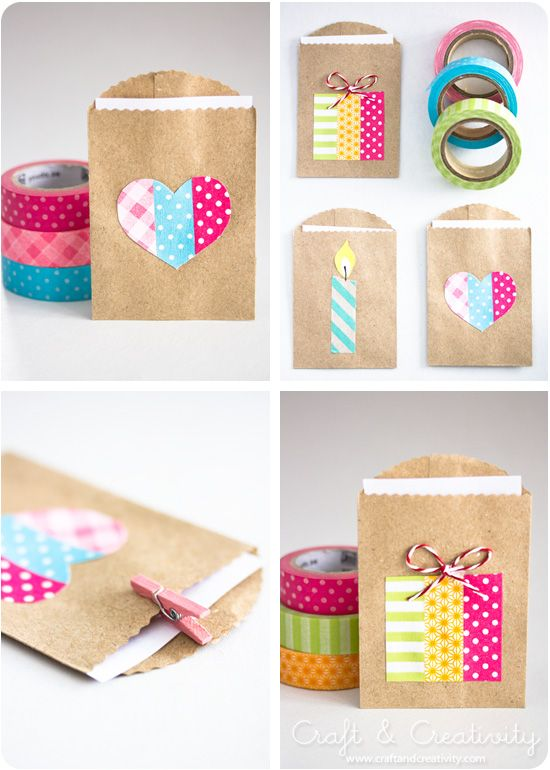 gift wraps with washi tapes