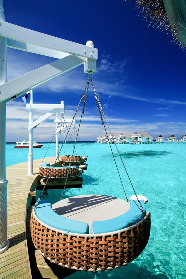 A perfect ending to a long day - a rest in this luxury Centara Grand Island Resort & Spa in the Maldives.