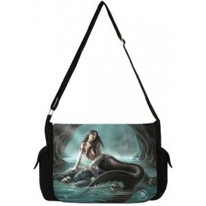Sirens Lament Mermaid Messenger Bag by Anne Stokes - New at GothicPlus.com - your source for gothic clothing jewelry shoes boots and home decor.  #gothic #fashion #steampunk