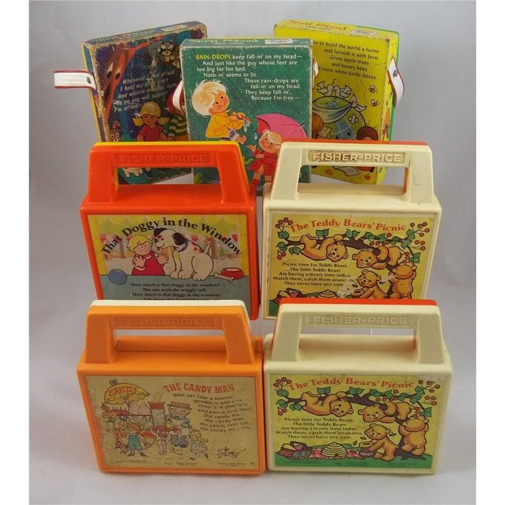 Fisher Price vintage 7 child's musical boxes - Back