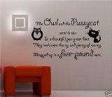 Online Design Owl Pussycat Vinyl Wall Art Sticker Quote Bedroom Kids - Black:Amazon.co.uk:Kitchen & Home